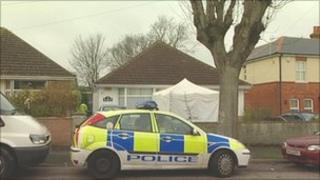 Police cordon at bungalow