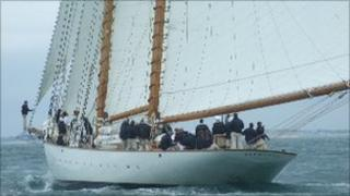 Eleonora racing in Cowes