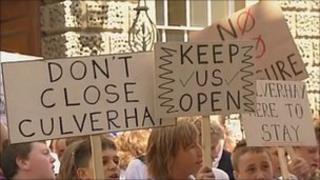 Demonstration against the closure of Culverhay School