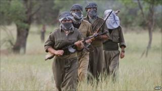 PKK fighters in northern Iraq (2007)