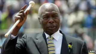 Daniel Arap Moi, pictured in 2002