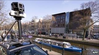 Google Street View car in Amsterdam