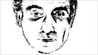 Facial sketch of man