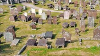 The cemetery at Kirkcudbright