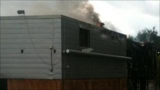 The fire at a disused car showroom on Stafferton Way in Maidenhead