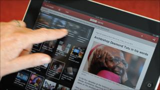 BBC News app on ipad