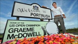 Portrush welcomes the US Open Champion