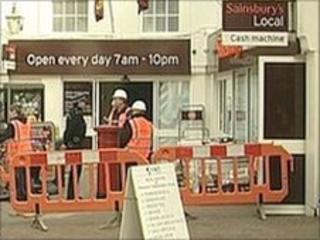 Sainsbury's supermarket in Cowes High Street