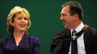 Mary McAleese and Matt Baggott