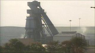 Grimethorpe Colliery in October 1992