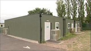 Temporary classrooms are still in use at Perryfields School