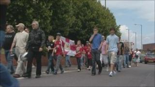 Bristol City FC fans rally 25 July 2010