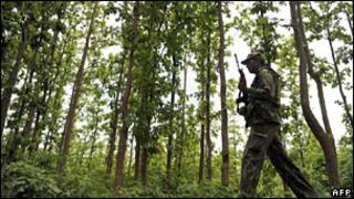 Security operations against Maoists in West Midnapore