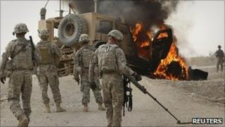 US troops near Kandahar 24.7.10
