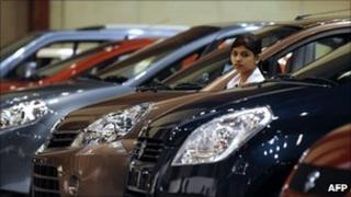 Maruti Suzuki cars on display at The Hyderabad International Auto Show 2010
