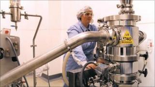 Drug manufacturing at AstraZeneca's Macclesfield plant