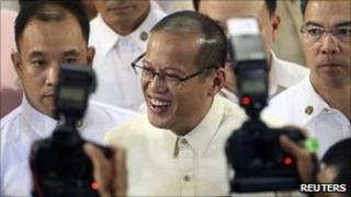 President Benigno Aquino in parliament on 26 July 2010