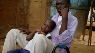 Adama Coulibaly and his daughter, Adjaratou