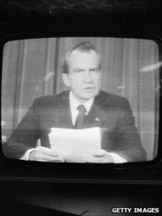 Richard Nixon resigning