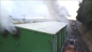 The fire in the workshop at the Watercress Line steam railway