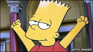 Bart Simpson cut-out in Los Angeles - 25 April 2005