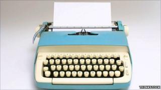 Blank typewriter
