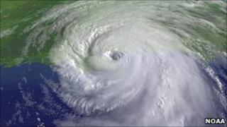 Satellite image of Hurricane Katrina (Image: NOAA)