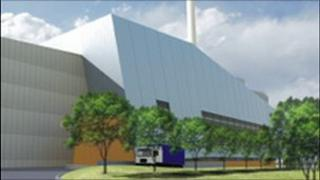 Artist's impression of how the Sutton Courtney incinerator might look