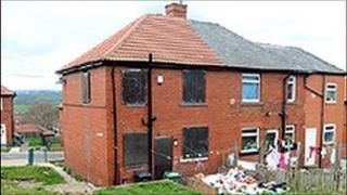 Shannon Matthews' former home in Moorside Road, Dewsbury Moor