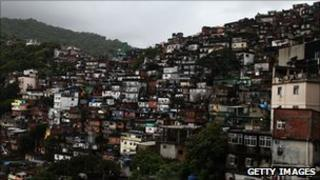 Brazil's Rochina slum (file photo)