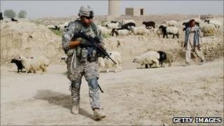 A US troop in Afghanistan