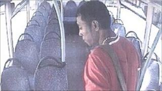 Man captured on CCTV on bus
