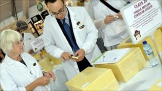 Judges at the International Cheese Awards
