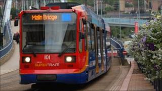 Supertram in Sheffield