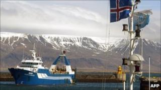 Trawler in Reykjavik harbour