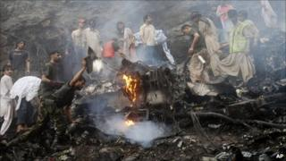 Pakistan crash site