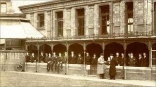 St Annes Hospital veranda in early 1900s