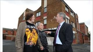 Alex Attwood and Ross Street residents