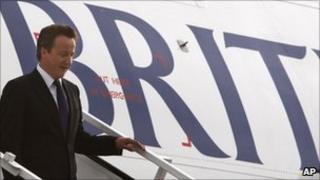 David Cameron arrives in New Delhi
