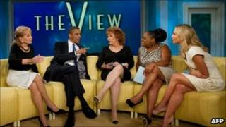 US President Barack Obama on talk show The View