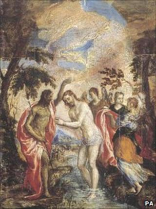 The Baptism of Christ by El Greco is not on the Herzog family's list of looted paintings