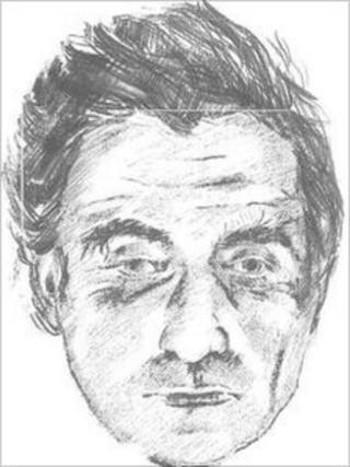 Facial sketch of David Dawes