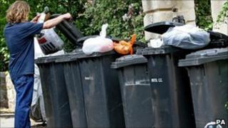 Wheelie bins in Bristol