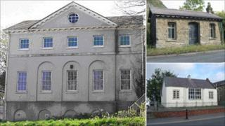 Foley House in Haverfordwest, a railway station in Stanner and a former youth hostel in Presteigne