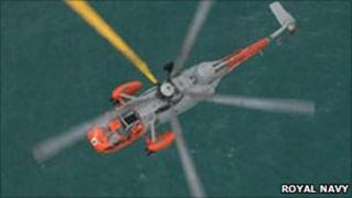 RNAS Culdrose rescue helicopter