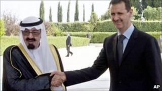 King Abdullah of Saudi Arabian and Syrian President Bashar al-Assad - 29 July 2010