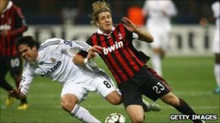 AC Milan v Real Madrid - both sponsored by Bwin businesses