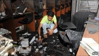 Siyatha newsroom after attack