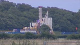 Caudrilla Resources' shale gas rig near Kirkham in Lancashire