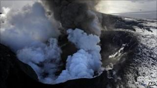 Volcanic eruption on Iceland